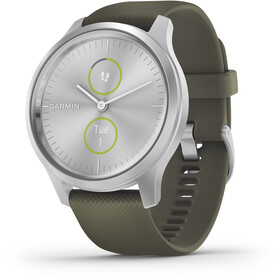 Garmin Vivomove Style Smartwatch, silver/moss green